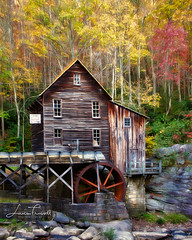 Glade Creek Grist Mill (ShutterByMe) Tags: appalachian autumn babcock beautiful bridge brook brown cascade colorful colors creek downstream fall flowing glade gladecreek grist historic landscape mill nature old park red redorange river rural rustic scenic state stream sunrise travel virginia water waterfall waterscape waterwheel west wheel wood wv yellow