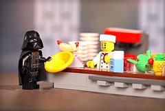 Jeff Vader (Frost Bricks) Tags: lego jeff vader death star canteen eddie izzard