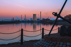 Canal (TimBobMcG) Tags: dusk industry canal water manchestershipcanal ellesmereport timothymcgaw