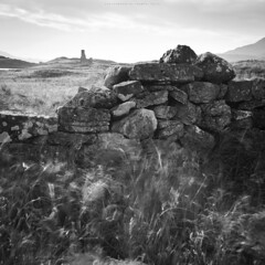 Only the stones are at a standstill (Premysl Fojtu) Tags: assynt castle stone wall building ruin ndfilter longexposure ardvreck scotland west wind movement motion blur blurred blackandwhite bw monochrome dslr canon eos 5dmkii fullframe ef1740 square