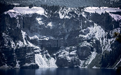 The Edge of a Crater - explored (maytag97) Tags: cliff lake shoreline water watersurface maytag97 tamron 150 600 150600 selectivecolor oregon craterlake wilderness nationalpark