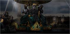 La fontaine des mers, place de la concorde (kalzennyg) Tags: paris france statue place concorde fontaine oblisque watereau fontainedesmers kalzennyg