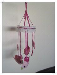 Mbile Infantil (CriarEreciclarArte) Tags: flor passarinho infantil borboleta feltro mbile renda