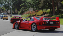 Ferrari F40 (dylancook44) Tags: blue red panorama bunny ford honda gold spyder a3 rocket rays jaguar mustang gt a4 lamborghini g35 350z matte nsx a6 s4 gallardo sl65 c6 r8 sl55 s7 widebody s6 mugen gt500 sl500 c7 weds te37 allroad g37 rs5 gt1000 sl63 aventador