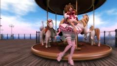 Play Time Neka (littlerowan) Tags: stockings ruffles diaper secondlife sissy babydoll heels neko crossdress bows bloomers anklesocks stripedsocks catboy hairbows frillspansy