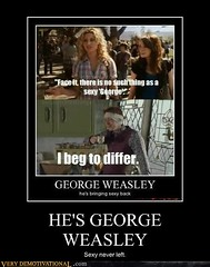 HE'S GEORGE WEASLEY (Chikkenburger) Tags: posters memes demotivational cheezburger workharder memebase verydemotivational notsmarter chikkenburger