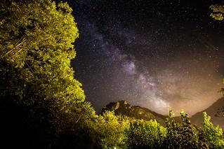 La Via Láctea en Pola de Somiedo