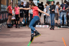 Slalom (Claude Schildknecht) Tags: france europe lyon places roller slalom lugdunumrollercontest2015