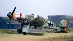 "1:72 Heinkel He 100 D-2; aircraft ""Black 7"" of 5. Gruppe, II./JG 53; France; July 1940 during the Battle of Britain (Whif/modified MPM kit) (dizzyfugu) Tags: world red france model war conversion britain aviation wwii stripe battle heinkel ii 02 100 kit he 53 70 channel 65 fictional 113 whatif luftwaffe mpm rlm whif deutshcland jagdgeschwader jg53"