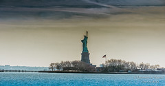 Statue of Liberty (Expressions and Beyond Photography) Tags: city ny newyork clouds canon liberty big jerseycity statueofliberty gotham bigapple canon60d empirestateofmind