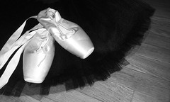 (jenny_deli) Tags: bw ballet white black art dance shoes dancing pointe tulle tutu