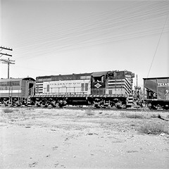 [Texas & Pacific, Diesel Electric Road Switcher No. 1124] (SMU Central University Libraries) Tags: trains tp railroads switchers diesellocomotives railroadyards