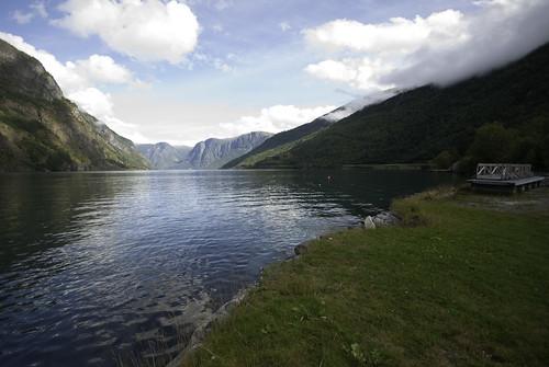 Walk along Aurlandsfjord