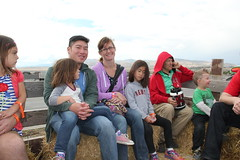 Hay ride! 8 - family pic (Aggiewelshes) Tags: travel utah october victor vivian hayride cailin lehi 2015 thanksgivingpoint jalila cornbellys