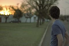 Ghost (J.J.Evan) Tags: auto street trees winter boy sunset sky man car atardecer 50mm calle árboles bokeh ghost cielo invierno chico fantasma hombre