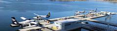 Seaplane Docks Vancouver (A.G. Buron Photography) Tags: blue water vancouver docks airplane aircraft airplanes bluewater stitched vancouverbc seaplanes britishcolumbiacanada cgvnl cfiuz cghaz cfhax cfgqh armandburon