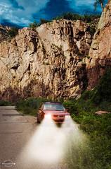 Headlights (Kaley Barrow Photography) Tags: newmexico car photoshop headlights canyon gilmantunnels