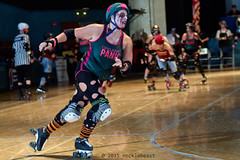 rebels_vs_panic_L3506709 1 (nocklebeast) Tags: ca usa santacruz rollerderby rollergirls zombies vampires skates organicpanic santacruzderbygirls redwoodrebels