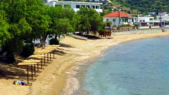 Batsi beach IMG_1042 (mygreecetravelblog) Tags: beach water island coast seaside sand greece shore greekislands andros cyclades batsi cycladesislands androsgreece androsisland androsbeach batsiandros greekislandbeach batsivillage batsibeach