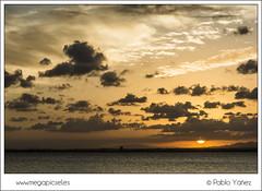 La Manga II (P. Yez) Tags: sunset sea espaa beach night clouds atardecer noche mar spain sand europa europe cloudy playa murcia lamanga marmenor lamangadelmarmenor mediterrneo mediterraneansea regindemurcia