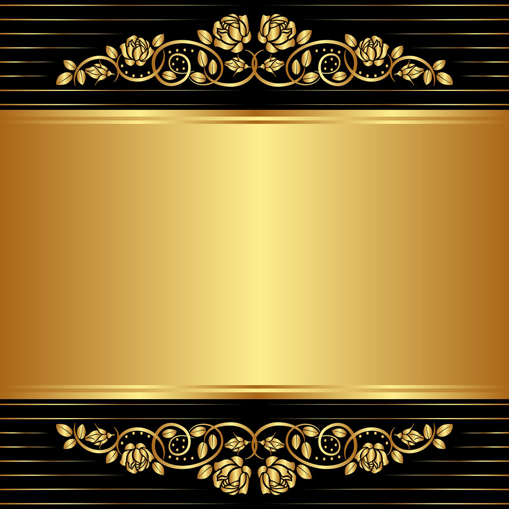Luxury wedding invitation with golden ornaments on a black background - The World S Best Photos Of Border And Clipart Flickr