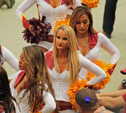 Redskinette Cheerleaders Charo, Jade Kenny and Adriana.