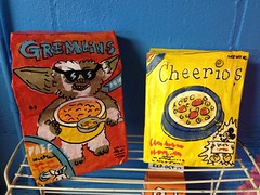 cereal (Abbigail and Billy Lilly) Tags: food art sunglasses design box cereal cheerios gizmo papier mache gremlins papiermache foodie cerealbox