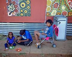 family eating breakfast (J.T. Ratcliff) Tags: aperture ipod australia 8x10 outback nik southaustralia outbackaustralia ernabella pukatja apylands colorefexpro30 ipodtouch5 anangupitjantjatjarayankunytjatjaralands
