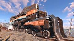 Fallout 4 (Mycophagia) Tags: train screenshot trainengine starlightdrivein ps4 fallout4