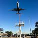 An aircraft lands on runway 24R at LAX