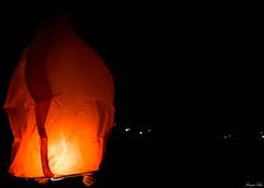 Make a Wish (Morgane Klber) Tags: camera light orange night digital chinese olympus lantern nuit lampion omd10