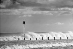 Blyth Beach Waves (loftylion9) Tags: storm sunrise gales northumberland bamburgh holyisland lindisfarne stmarys blyth amble stmaryslighthouse dunstanburghcastle embleton coquetisland blythbeach lowhauxley bambirghcastle