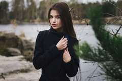 Jeanne (ivankopchenov) Tags: light portrait lake cold cute girl beautiful natural wind outdoor young