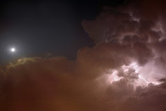 la calma e la tempesta (semaone) Tags: sky panorama moon storm skyline clouds torino flash piemonte cielo lightning turin piedmont temporale lampo fulmine