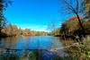 Lake Hinterbruhl at Munich (Vladi Stoimenov) Tags: wood blue autumn sky color water boot gold nikon colourful nikkor isar d610 vawes hinterbruhl esenciadelanaturaleza lakehinterbruhl