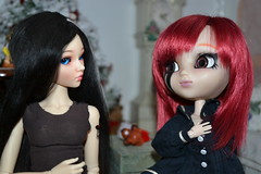 DSC_2596 (DollEmiou) Tags: christmas cute dolls maya chloe difference bjd pullip vs tte taille nezumi stica pullipfc bjdminifee