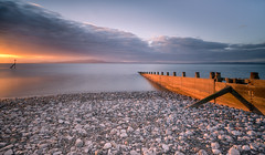 Catching The Light (.Brian Kerr Photography.) Tags: silloth cumbria beach woodenbreakers outdoorphotography seascape sunset landscapephotography landscape seascapephotography clouds sky criffel solway solwayfirth photography sony a7rii formatthitech filters pebbles flickr