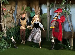 Stranger Danger? (Richard Zimmons) Tags: aurora sleepingbeauty princess disney doll barbie disneystore prince maleficent phillip dfdc designer le limited edition