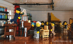 Edison's Workshop (Gadget Bricks) Tags: thomasedison edison lego nj newjersey menlopark lab laboratory brick organ chemicals vacuum lightbulb inventor first tesla minifig minifigure moc thomasalvaedison electricity electric