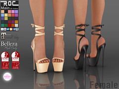 ::ROC:: Lace Up Platform (ROC FASHION) Tags: roc roscee sl secondlife shoes footwear heel platform lace up maitreya slink tmp belleza
