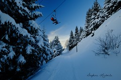 above road (liusik-art) Tags: snow january france lesmenuires nature skiresort mountain skiers lift above road