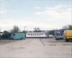 Wrocaw, Poland. (wojszyca) Tags: mamiya rz67 6x7 120 mediumformat 75mm shift kodak ektachrome e100g gossen lunaprosbc epson 4990 city urban parking lot wrocaw