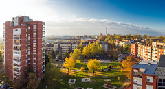 Autumn view from my balcony. (Originalni Digitalni) Tags: 60d canon dslr lightroom originalnidigitalni raw slavonskibrod tomislavlai art autumn fotografija jesen photography umjetnost balcony view pogled grad city morning center