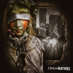 Dreams Of Madness So Serene (Ghost Of Nations Photography And Digital Art) Tags: ghostofnationsphotography ghostofnations liminal statue sculpture scary dark gothic newgothic neogothic city textured decay decaying chain lock blindfold eerie disquiet disturbing disturb darkness spooky