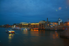North Bank (Tony Shertila) Tags: 20150527203236 england gbr geo:lat=5150470235 geo:lon=007594943 geotagged riversideward southwark unitedkingdom europe britain london city outdoor weather night clouds cloudy river lights waterfront boats movement architecture queen annecathedralenglandgbrgeolat5150470235geolon007594943geotaggedriverside wardsouthwarkunited kingdom