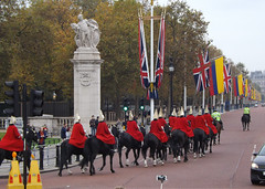 Heading down the mall (lcfcian1) Tags: london england capital heading down mall headingdownthemall horseguards cavalry themall flags