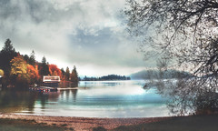 october moments (Weirena) Tags: fall autumn bavaria weirena ireneweisz wallart fineartphotography walchensee lakes seasons scenes landscapes textured fineart europe nature