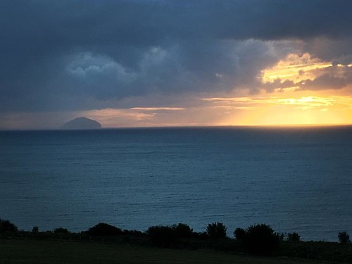 Sunset over the Ailsa Craig. Scotland is just wonderful. #Scotland #AilsaCraig