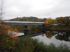 2016-10-21_DSCN5960 (becklectic) Tags: 2016 bridge connecticutriver cornish coveredbridge fallcolors newhampshire reflection vermont windsor