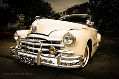 Nostalgic chrome (Howard Ferrier) Tags: oceania pontiac gm sepia australia seq classiccar headlight chrome bumperbar happyvalley 1948pontiacsilverstreak car grille sunshinecoast transport caloundra motorvehicle queensland 1948pontiacsilverstreak8 pontiacstreamliner